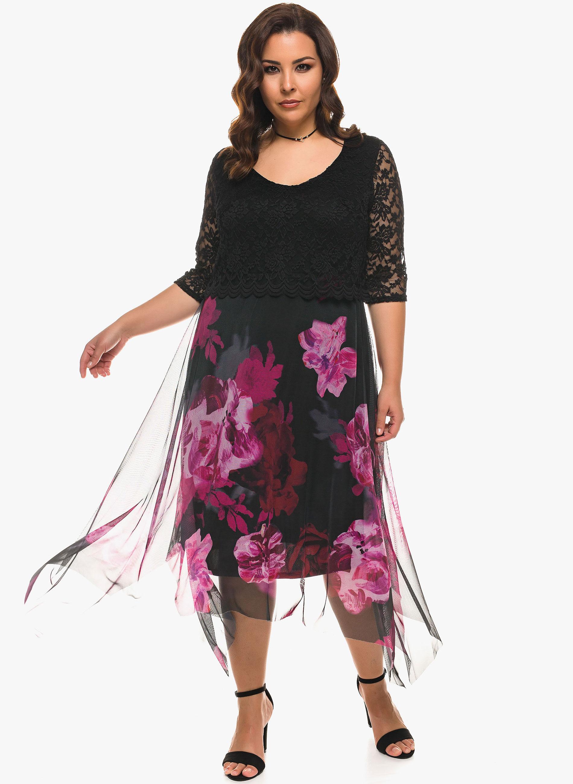 ade0ebac3935 ΜΕΓΑΛΑ ΜΕΓΕΘΗ ΦΟΡΕΜΑΤΑ    Φόρεμα Floral Δαντέλα - Μόδα σε μεγάλα ...