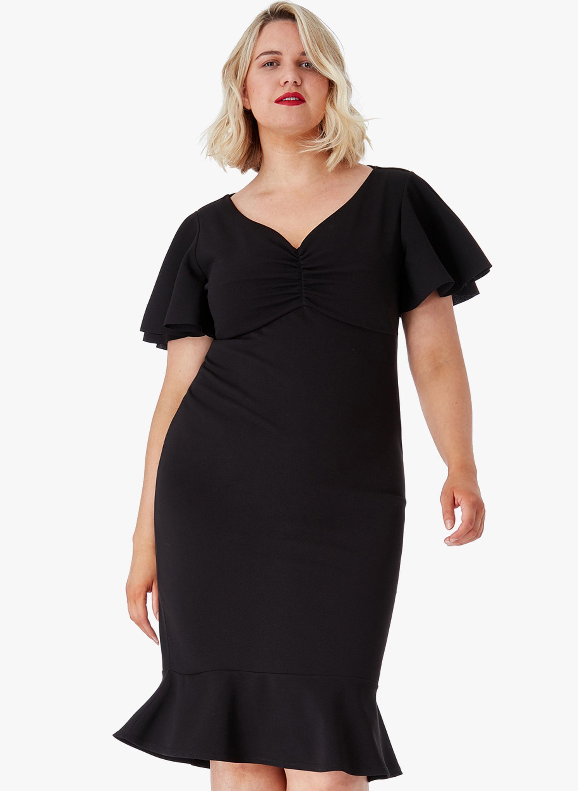 8b37a9e065b9 ΜΕΓΑΛΑ ΜΕΓΕΘΗ ΦΟΡΕΜΑΤΑ    Φόρεμα Midi Μαύρο - Μόδα σε μεγάλα μεγέθη ...
