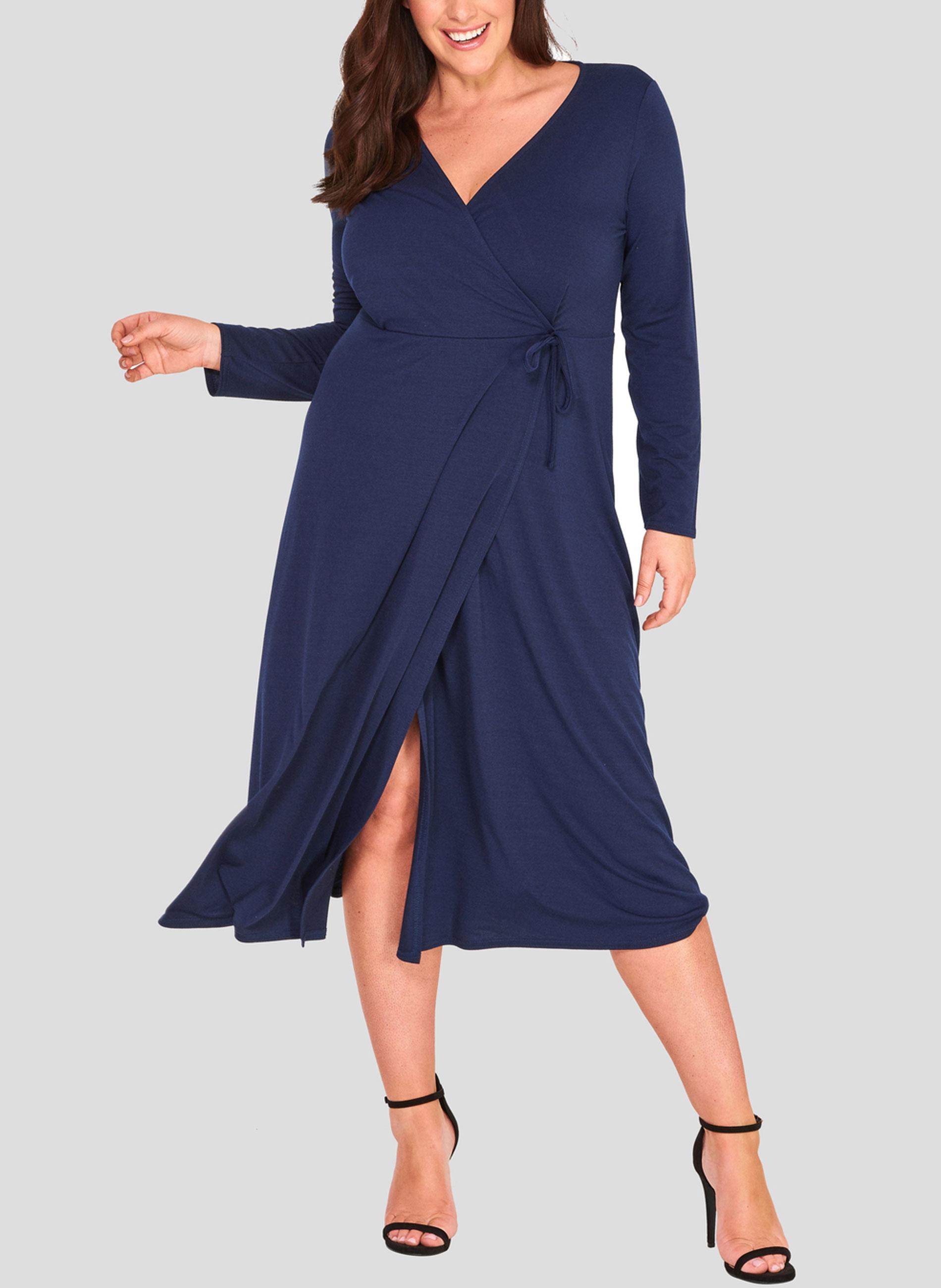 1defe2c04686 ΜΕΓΑΛΑ ΜΕΓΕΘΗ ΦΟΡΕΜΑΤΑ :: Φόρεμα Κρουαζέ Navy - Μόδα σε μεγάλα ...