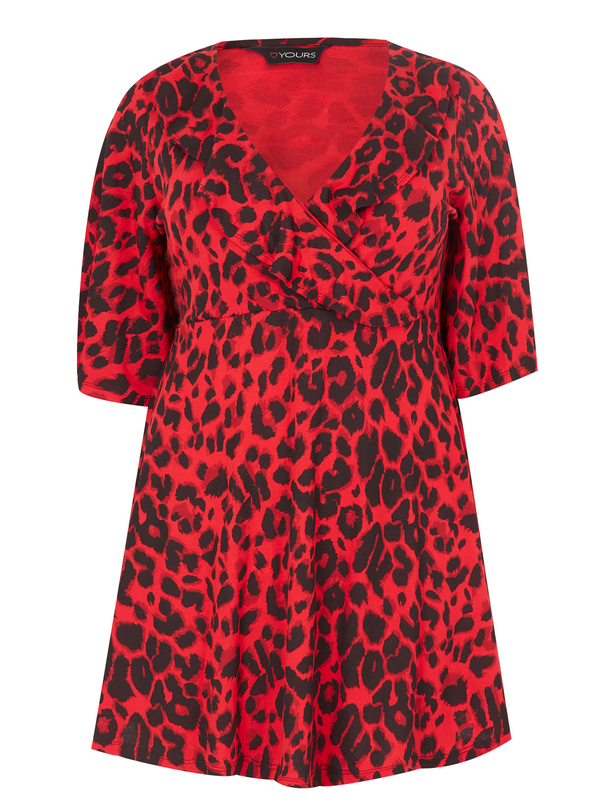 ce458feabcf ΜΠΛΟΥΖΕΣ :: Μπλούζα Κόκκινη Animal Print - Μόδα σε μεγάλα μεγέθη ...