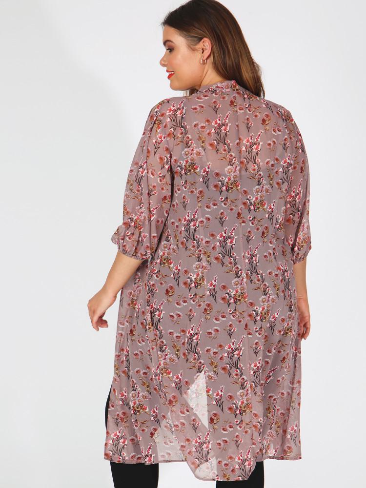 72aa632126bd ΜΕΓΑΛΑ ΜΕΓΕΘΗ ΦΟΡΕΜΑΤΑ    Πουκάμισο Φόρεμα Ροζ Φλοράλ - Μόδα σε ...