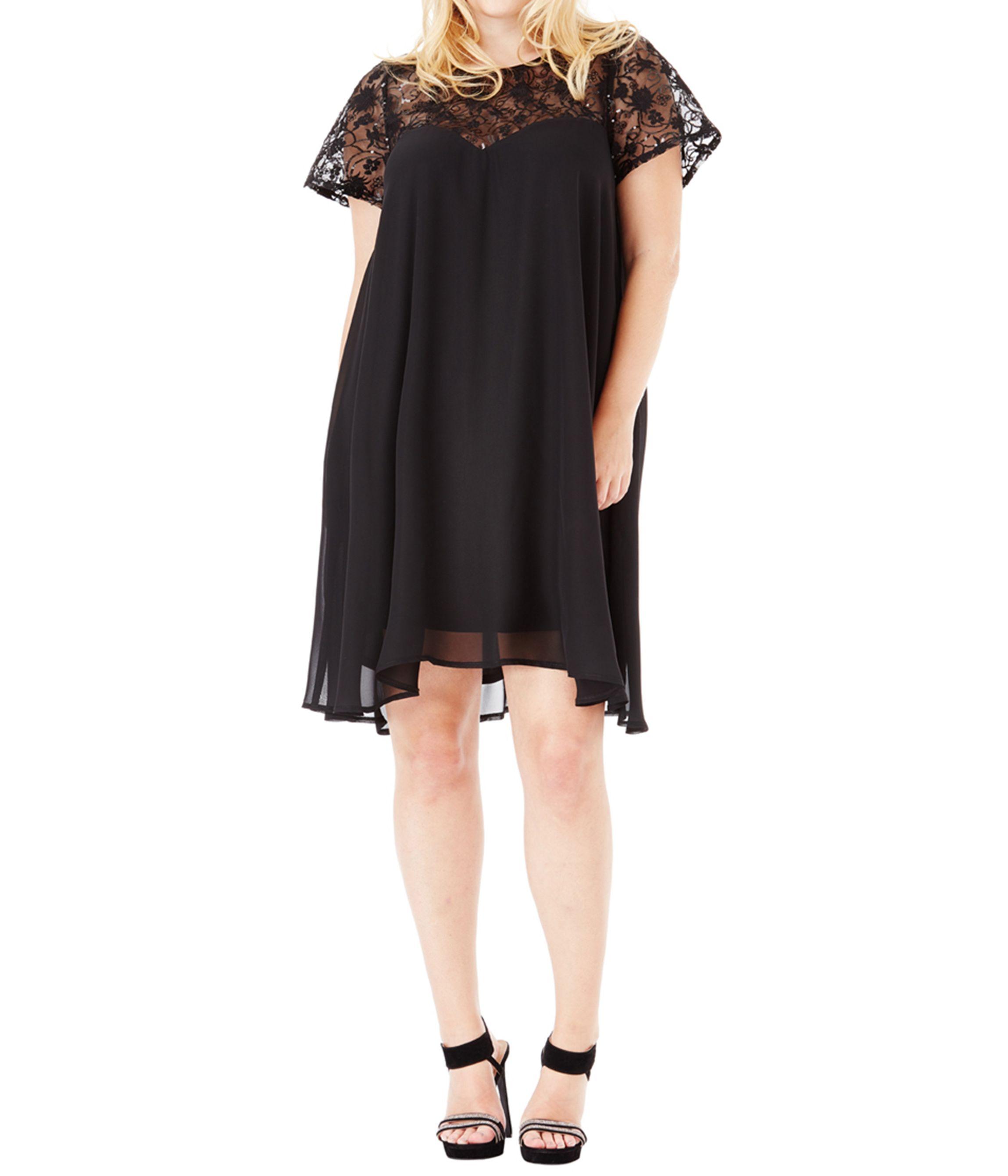 ΜΕΓΑΛΑ ΜΕΓΕΘΗ ΦΟΡΕΜΑΤΑ    Φόρεμα Μαύρο Σιφόν - Μόδα σε μεγάλα μεγέθη ... 45cf2accd29