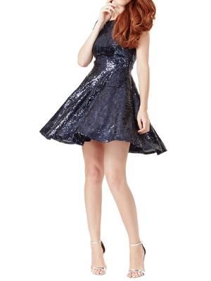 Φόρεμα Παγιέτα Μπλε Maniags