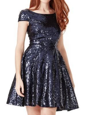 Φόρεμα Παγιέτα Μπλε DR977_navy_front_l Maniags