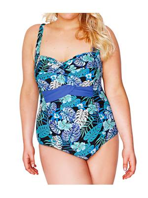 Μαγιό Ολόσωμο Μπλε Φλοράλ Blue_Green_Tropical_Hawaiian_Print_Swimsuit_55386_1fb9 Maniags