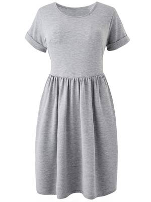 Φόρεμα Βισκόζης Γκρι DR3051-02 Maniags