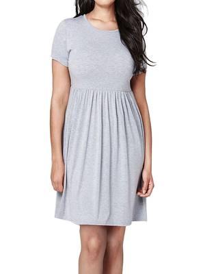 Φόρεμα Βισκόζης Γκρι Maniags