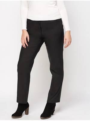 Παντελόνι Δεμάτινη Όψη black-waxed-trousers-black-66681-5 Maniags