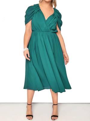 Φόρεμα Midi Πράσινο Chiffon DR3507-03 Maniags