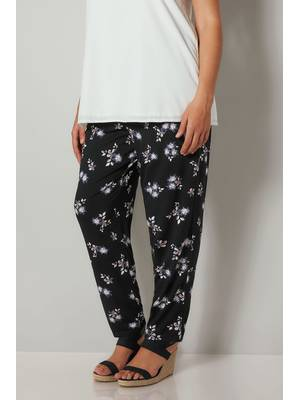 Παντελόνι Harem Φλοραλ Black_Floral_Print_Jersey_Harem_Trousers_With_Pockets_142138_0f99 Maniags
