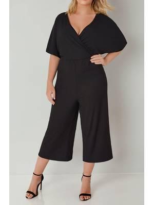 Ολόσωμη Φόρμα Μαύρη Κρουαζέ Black_Jersey_Wrap_Cropped_Culotte_Jumpsuit_136330_5d4a Maniags