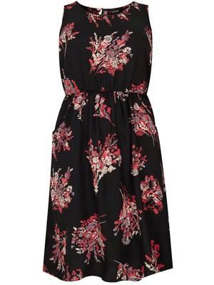 Φόρεμα Φλοραλ Βισκόζης Αμάνικο Maniags