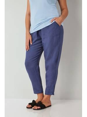Παντελόνι Λινό Μπλε Blue_Linen_Mix_Pull_On_Tapered_Trousers_142175_5d61 Maniags