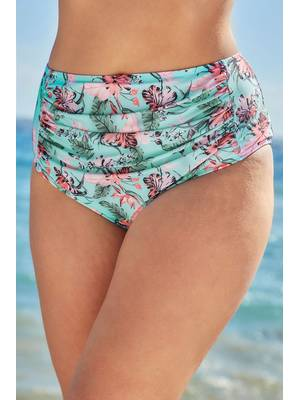 Σλιπ Μπικίνι Φλοράλ Blue_Pink_Floral_Print_Bikini_Briefs_With_Ruched_Panel_150053_56cb Maniags