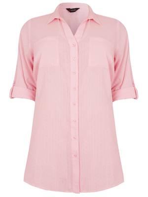 Πουκάμισο Ροζ με Ζωνάκι στο Πίσω Μέρος Maniags