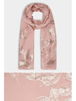 Φουλάρι Ροζ με Μεταλλική Λεπτομέρεια Maniags