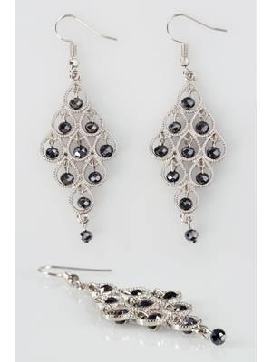Σκουλαρίκια Κρεμαστά Ασημί Silver_Bead_Chandelier_Drop_Earrings_152369_aebb Maniags