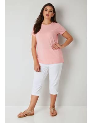 Παντελόνι Βαμβακερό Λευκό Κάπρι White_Cool_Cotton_Cropped_Trousers_144083_17c0 Maniags
