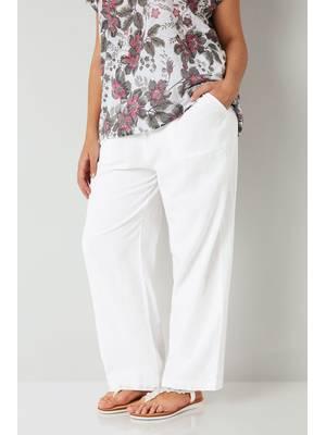 Παντελόνα Λινή Άσπρη Maniags