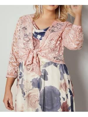 Μπολερό Ροζ Δαντέλας YOURS_LONDON_Pink_Floral_Stretch_Lace_Shrug_156322_c4bf Maniags