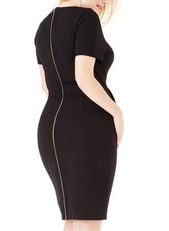 Φόρεμα Midi Μαύρο με Φερμουάρ 288_9 Maniags