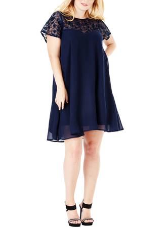 Φόρεμα Navy Σιφόν 995_2 Maniags