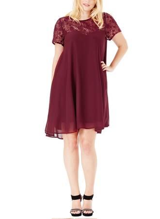 Φόρεμα Μπορντώ Σιφόν 995_5 Maniags