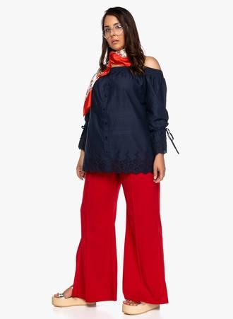 Παντελόνα με Άνοιγμα στο Πλάι Κόκκινη 2019_06_12-Maniags7813 Maniags