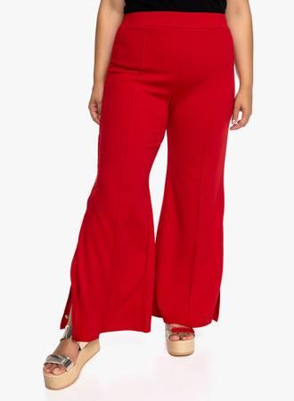 Παντελόνα με Άνοιγμα στο Πλάι Κόκκινη Maniags