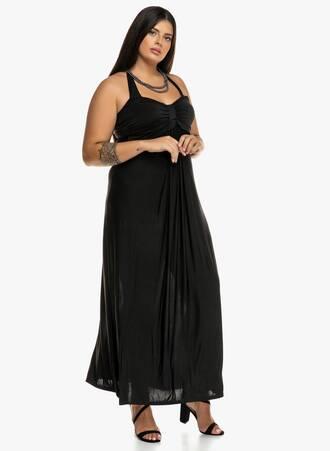 Μάξι Φόρεμα Μαύρο με Δέσιμο στο Λαιμό 2019_09_18-Maniags1540 Maniags