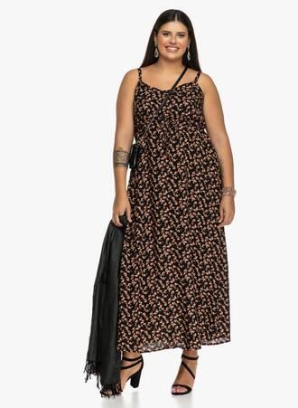Φλοραλ Φόρεμα Αμάνικο Maniags