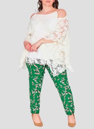 Αμπιγιέ Δαντελένια Μπλούζα Λευκή με Χαλαρό Μανίκι cold-shoulder-lace-plus-size-wholesale-top-cream-fashion-book-3 Maniags