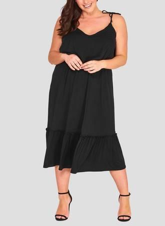 Φόρεμα Μαύρο Jersey Maniags