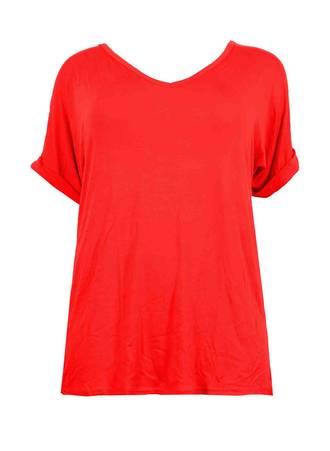 Κόκκινη Μπλούζα Βισκόζης Maniags