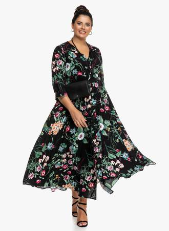 Maxi Φόρεμα Φλοράλ με Κουμπιά 'Yours' Maniags