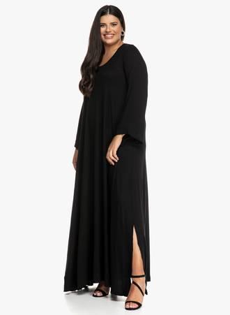 Μάξι Φόρεμα Μαύρο Maniags