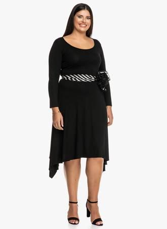 Φόρεμα Μαύρο με Ασυμμετρίες Maniags