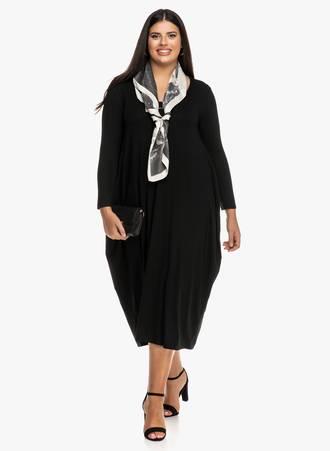 Φόρεμα Μαύρο Ζέρσεϋ Balloon Maniags
