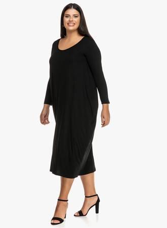 Φόρεμα Μαύρο Ζέρσεϋ Balloon 2019_09_19-Maniags0901 Maniags