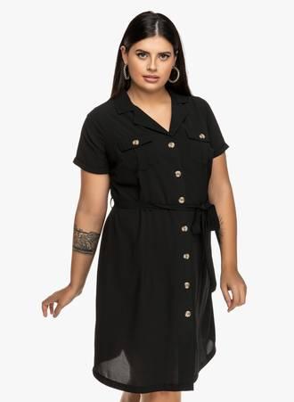 Πουκάμισο Φόρεμα με Ιδιαίτερο Κουμπί 'Yours' Maniags