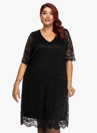 Φόρεμα Μαύρο Δαντέλας Maniags