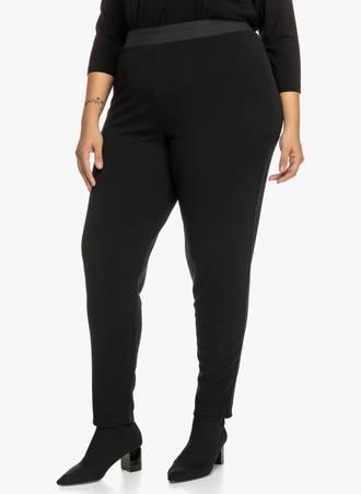 Παντελόνι Μαύρο με Λάστιχο στην Μέση 'Yours' Maniags