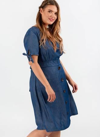 Denim Κρουαζέ Φόρεμα Untitled-3 Maniags