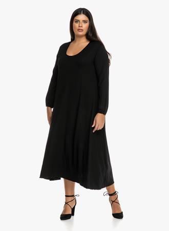 Μαύρο Φόρεμα Μάξι Maniags