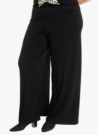 Ελαστική Παντελόνα Μαύρη Maniags