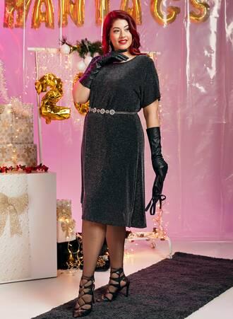 Midi Φόρεμα Lurex 'Yours' Maniags