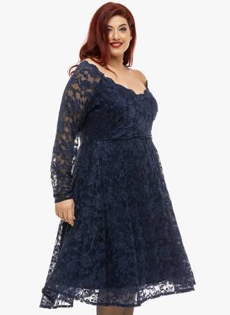 Φόρεμα Navy Δαντέλας Κλος 2019_12_11-Maniags5006 Maniags