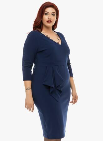 Φόρεμα Navy Μίντι Fold Over 2019_12_11-Maniags5188 Maniags