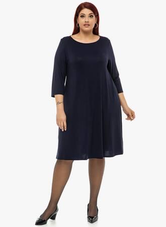 Navy Φόρεμα Ελαστικό 'Yours' Maniags