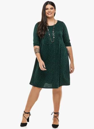 Φόρεμα Σκούρο Πράσινο Animal Print 'Yours' Maniags